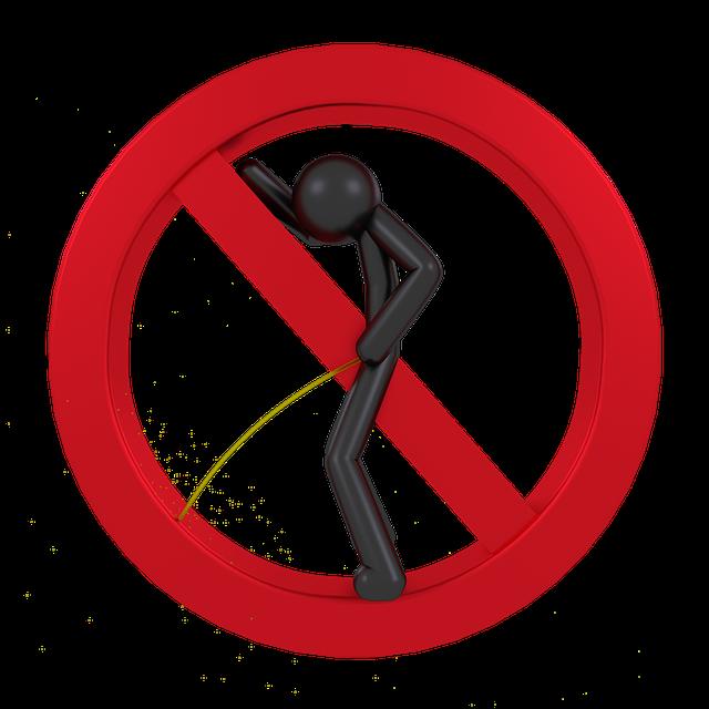 zákaz čůrání