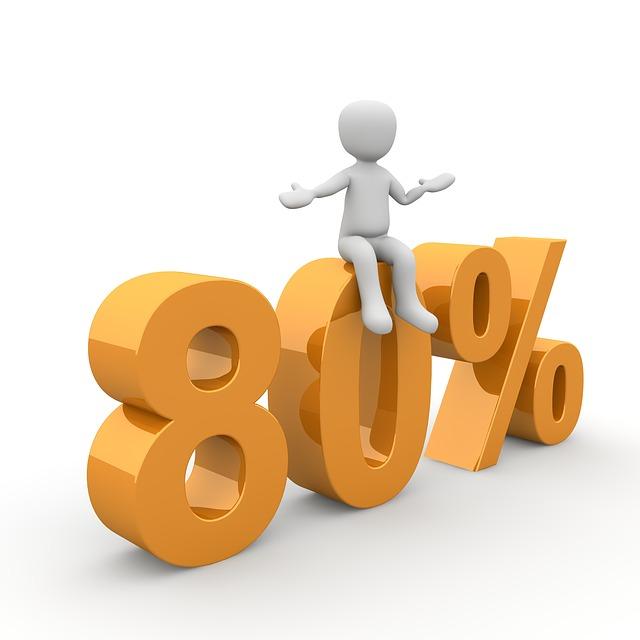 sleva 80 %