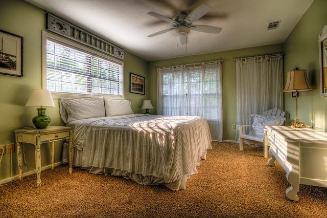 zelená ložnice