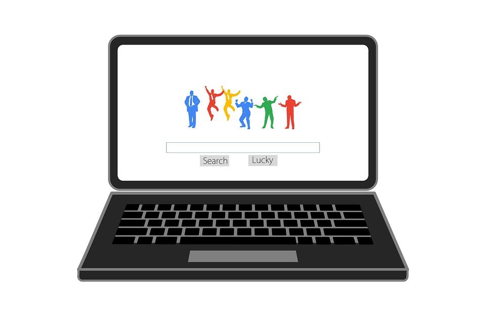 laptop, vyhľadávač